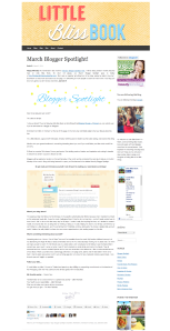 March Blogger Spotlight    Little Bliss Book