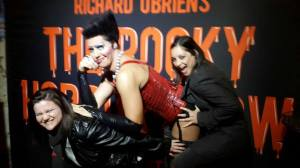 With Cathy/Frank at the premier of the Rocky Horror Picture Show at the Fugard Theatre. After this photo was taken, he gave me a kiss on the cheek and I was FINISHED!