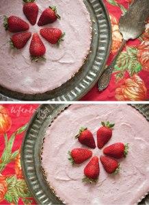 Strawberry cashew cream torte found here: http://pureella.com/strawberry-cashew-cream-torte-no-bake-vegan-and-gluten-free-recipe/