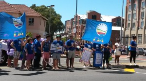 Our main opposition party, the Democratic Alliance, showing their support