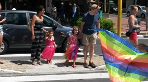 This straight couple dressing up their kids and bringing them to the march - melts my heart!
