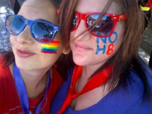Us at Pride 2013, showing our support for our US friends before Prop8 was overturned