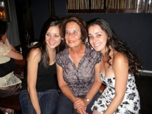 Mom, my sister (on the right) and me