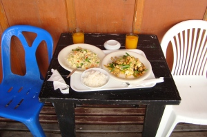 Breakfast in Koh Phangan, Thailand, 2013. My kind of food!