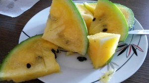 Yellow watermelon (delicious!) - Kuala Lampur