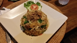 Nasi goreng - fried rice with vegetables and chicken - Bangalan, Bali