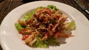 Chicken and lime salad - West Bali National Park