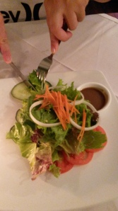 Fresh salad - avoid the curious salad dressing